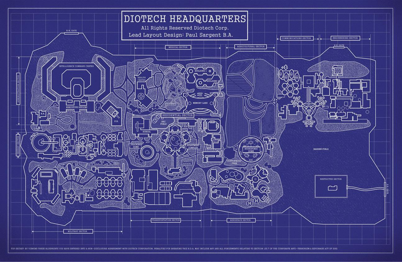 Jessica brody about diotech compound blueprint map malvernweather Image collections