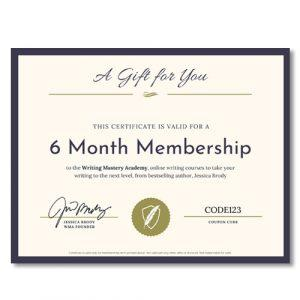 Writing Mastery Academy 6 Month Gift Certificate